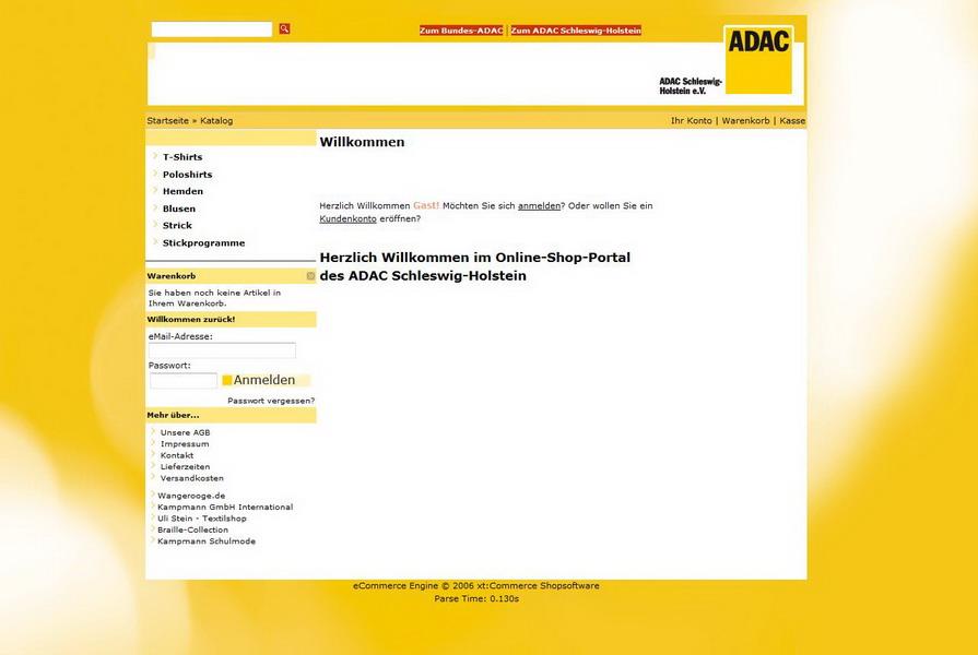Online-Shop ADAC Schleswig-Holstein