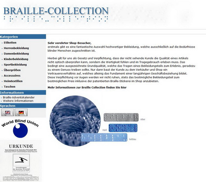 Braille-Collection Shop