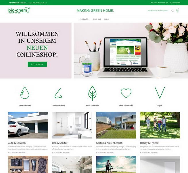 Bio-Chem24 Onlineshop für gute, biologische Reiniger