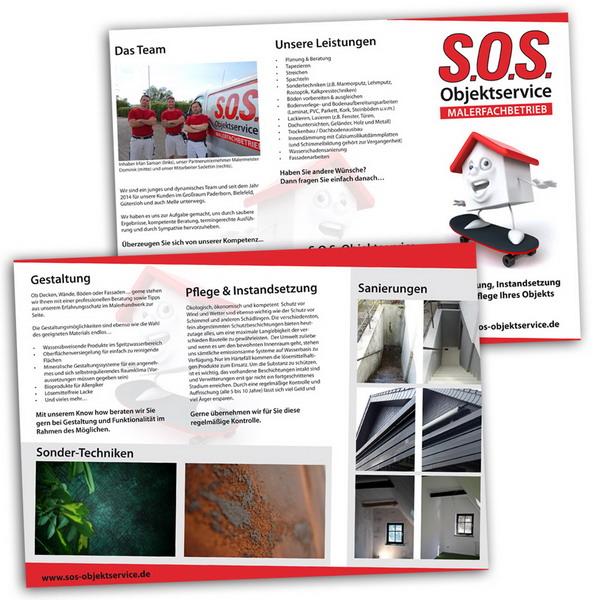 SOS Objektservice Flyer
