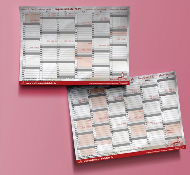 Stoffkontor Kalender für Kunden