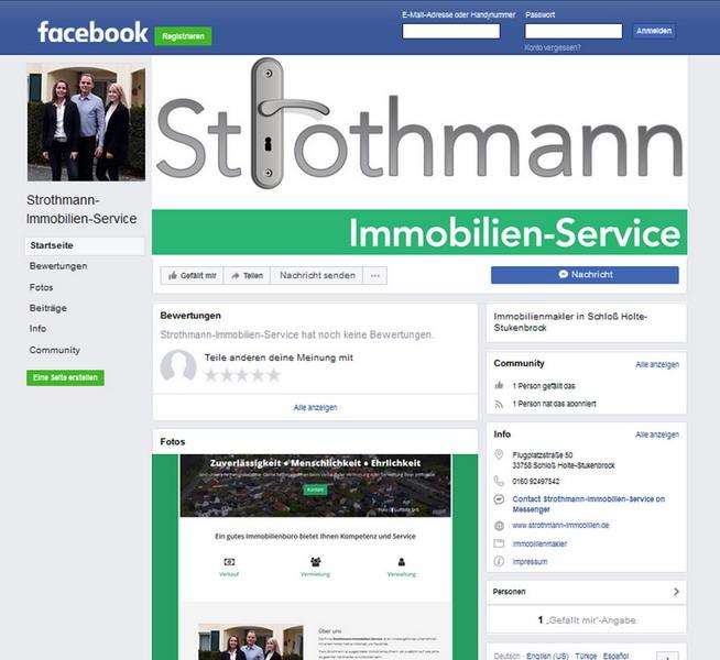 Strothmann-Immobilien-Service Facebook-Seite