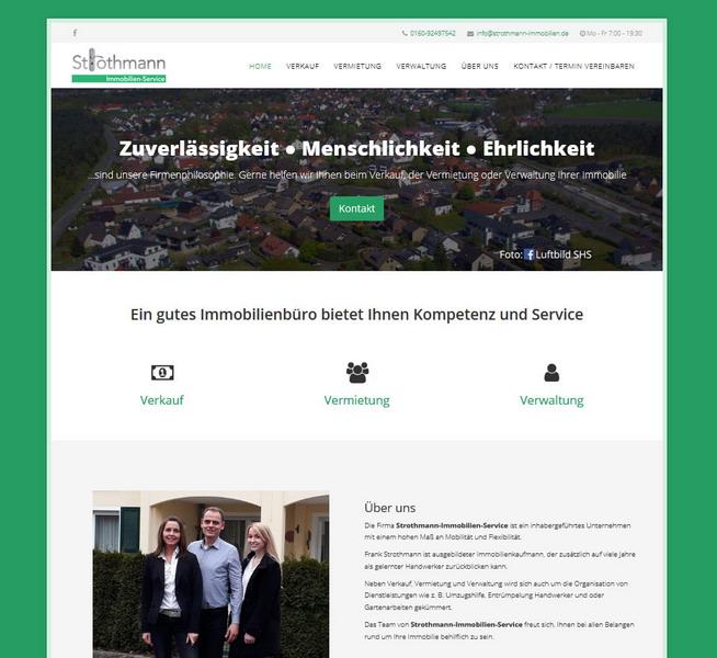 Strothmann-Immobilien-Service Website