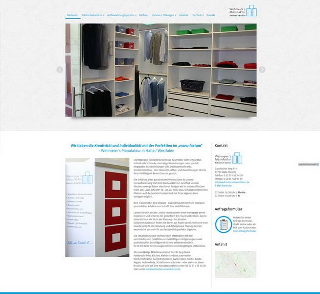 Wehmeiers's Manufaktur - Gleitschiebetüren, Schränke und Küchen